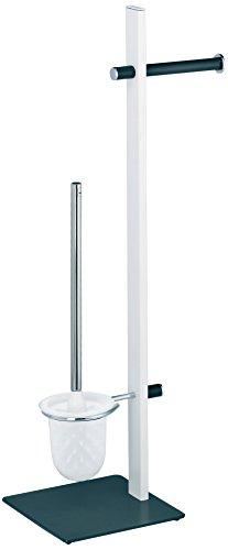 Kela 22245, WC-Bürstentopf und Papierhalterung, Toilettengarnitur, Metall, Siam, 73cm, Weiß-Anthrazit