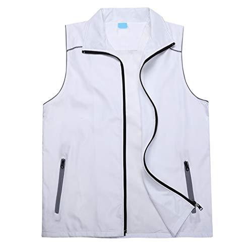 Reflektierende Ma Jiyi Overalls Vest Group Engineering Außenkonstruktion Werbung Vestback Six Colors XMJ (Farbe : Weiß, größe : S)