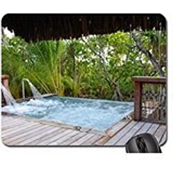 Jacuzzi at Beach Side Villa Mouse Pad, Mousepad (Beaches Mouse Pad)
