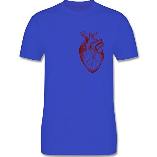 Nerds & Geeks - Herz Anatomie - Herren Premium T-Shirt Royalblau