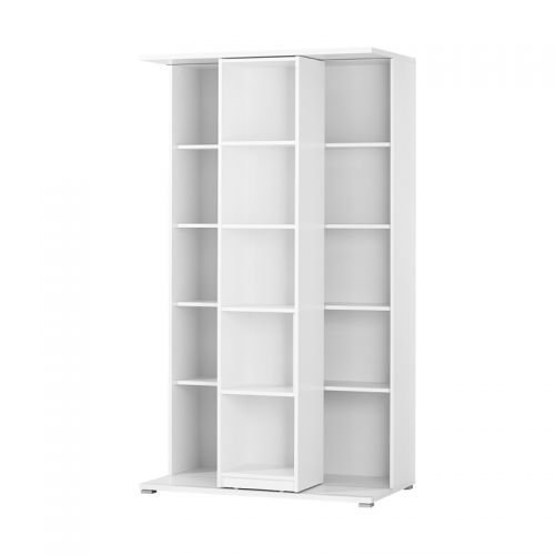 228cm Schieberegal Aktenregal weiß - anthrazit Büromöbel Ordnerregal Bücherregal