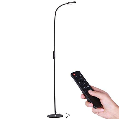 AVAWAY LED Stehlampe Dimmbare Standlampe Stehleuchte Leselampe Flexible Standleuchte Bodenlampe mit Schwanenhals für Wohnzimmer Schlafzimmer Büro, Touch & Fernbedingung Steuerung,3000K-6500K