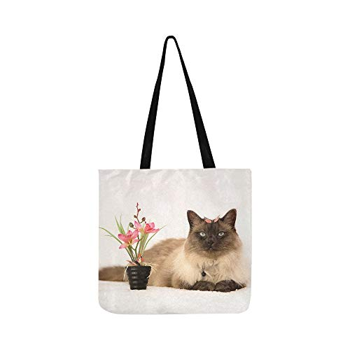The Red Rose Broke The Pot Cat Canvas Tote Bolso Bandolera Bolsos...