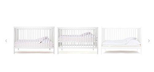 Imagen para Cuna de bebe Star Ibaby Dreams Sweet. 3 posiciones de somier. Lateral abatible + Colchón Viscoelastica.