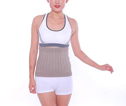 AGIA TEX elastischer Nierenwärmer Rückenwärmer atmungsaktiv aus Kaschmir-Wolle Leibwärmer für Damen Herren Kinder Größe L und Farbe Beige