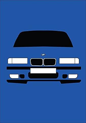 BMW E36M3–Retro Motor Company Grußkarte