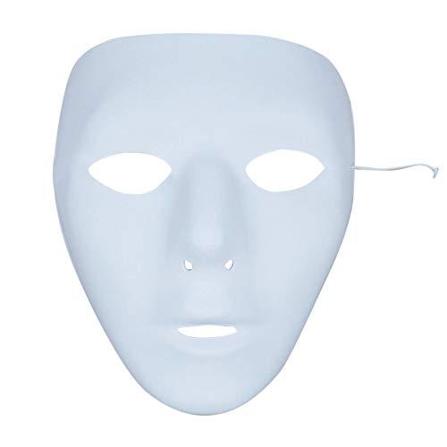 Griechische Kostüm Frau Antike - Kampre Vollgesichtsmaske Fun Halloween Blank Mask Weiß DIY Kunsthandwerk mit Gummiband für Dance Cosplay Masquerade Party