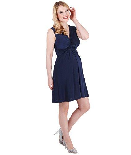 KRISP® Femmes Robe Inspiration Portefeuille Soirée Cocktails Elégante Maternité Grossesse Bleu Marine