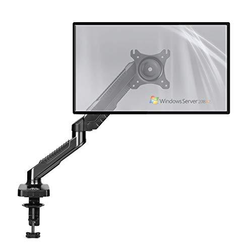 """SIMBR Monitor Halterung, Monitorhalterung, Monitorarm, Monitor Tischhalterung mit 360° Drehbar Federarm und Kabelmanagement, für 15\""""-27\"""" Bildschirme mit VESA 75x75/100x100 mm, Max. Tragfähigkeit 6.5kg"""