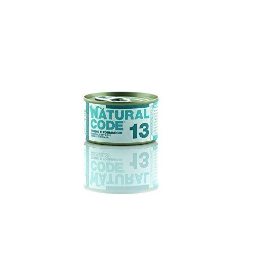NATURAL CODE Cat 13 Tonno Formaggio Alimenti Gatto Umido Premium (Code Natural)