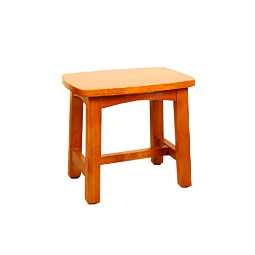 MyAou-Shower Chair Massivholz Kleinen Quadratischen Hocker Duschhocker Baby Hocker Kleine Bank Holz Hocker Rechteckiger Hocker Bad Hocker