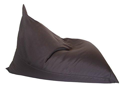 Quantum Interior Sitzsack Dreieck Bean ca. 130x100cm, Liegstuhl Outdoorkissen (Grau- Braun)