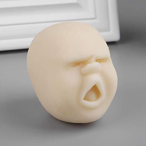 Anti-stress-gesicht (Carry stone Premium Quality Vent Ball Anti-Stress-Spielzeug Menschliches Gesicht Überraschung Emotion Entspannung Stress abbauen Spielzeug für Erwachsene Kinder)
