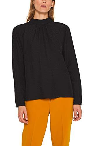 ESPRIT Collection Damen 109Eo1F003 Bluse, Schwarz (Black 001), (Herstellergröße: 40)