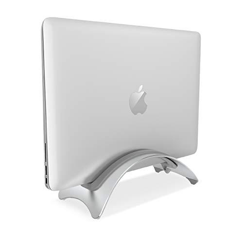 """Lamicall Vertikaler Laptop Ständer, Laptop Halterung : Platzsparender Tisch Laptop Ständer für Dell XPS, HP, Samsung, Lenovo andere 10\""""~17\"""" Notebooks - Silber"""