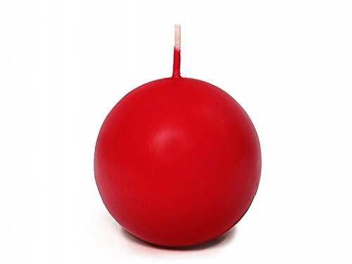 Candele 10Velas Rojas Redondas esféricas 6cm Vela roja Navidad 10Unidades