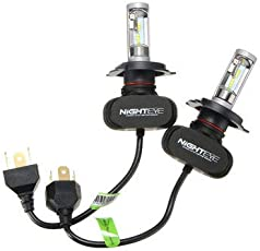 Universalmart Car LED Headlights Front Fog Lamps Bulbs H4 H7 H11 9005 9006 9-32V 6500K 50W 8000LM -H4