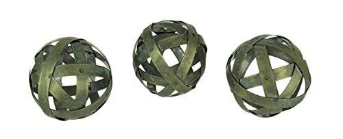 okugeln aus Metall, Antik-Optik, 3 Stück ()