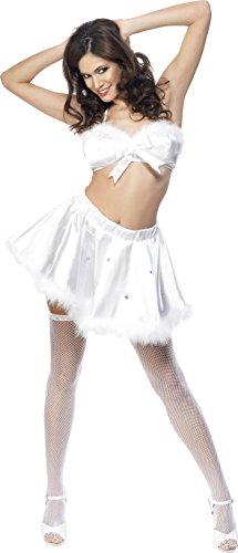 Smiffys, Fever, Damen Sexy Eismädchen Kostüm, Rock und Oberteil mit Glitzersteinen, Größe: M, (Dress Fancy Kostüm Eis)
