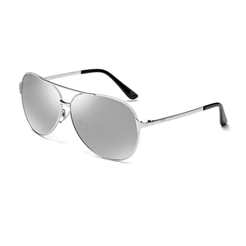 JOLLY Polarisierte Sonnenbrillen für Männer Polarisierte Outdoor-Sportbrillen Brillen UV400 Schutz Brillen Brillen Sonnenbrillen (Farbe : Silber)