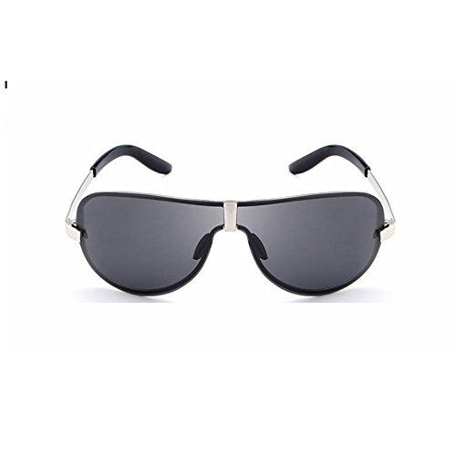 Yiph-Sunglass Sonnenbrillen Mode Herren Sonnenbrille Brille Klassische rahmenlose Mode Sonnenbrille Polarisierte Sonnenbrille (Farbe : Silver Frame Black Lens01)