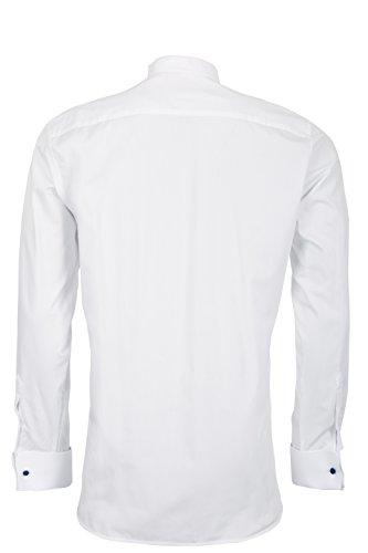 Schaeffer Hemd Modern Cut uni weiß Tab Weiß