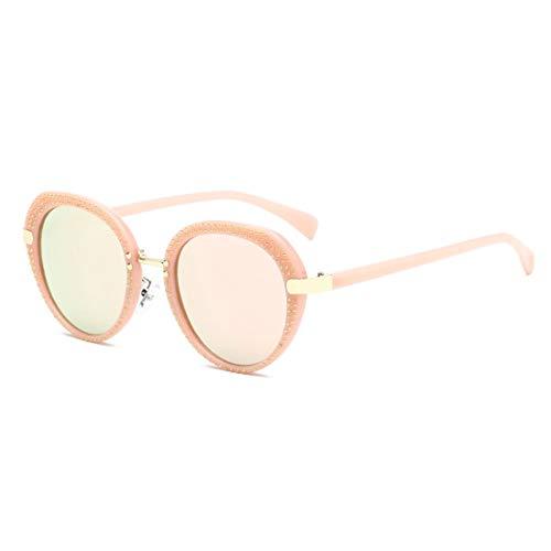 Sonnenbrillen Mode Damen Niet Sonnenbrillen Unisex Sonnenbrillen für Männer und Frauen Runde Sonnenbrillen Klassische PC-Rahmen UV-Sonnenbrillen für Reisen UV-Schutz Sonnenbrillen. ( Farbe : B )