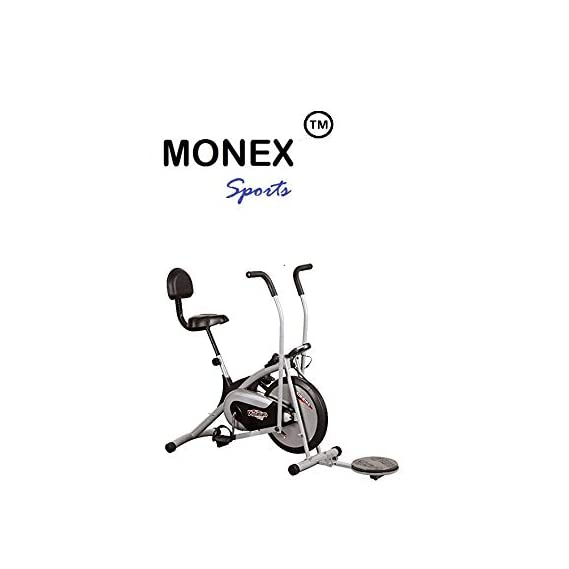 Body Gym Air Bike Platinum Dx With Backrest & Twister, Gym Bike, Exercise Bike