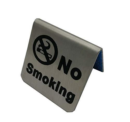 Edelstahl Nichtraucherzeichen Zeltkarte Rauchen Sie nicht Tisch Board Restaurant Hotel Nichtraucher Desk Logo Indicator