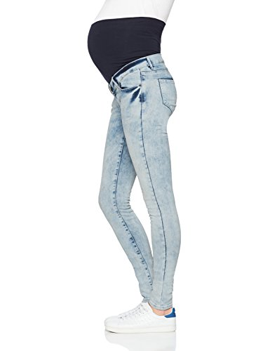 Supermom Damen Umstandsjeans Jeans Otb Skinny Grey Blue Blau (Grey Blue Denim C303)