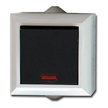 feuchtraum wechselschalter m kontrolllampe aufputz. Black Bedroom Furniture Sets. Home Design Ideas