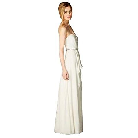 COAST - Women's Jenna Grecian Bridal Maxi Wedding Dress, Ivory, Size 12