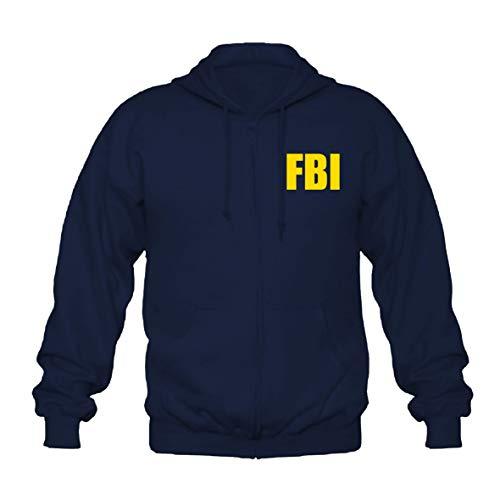 shirtmachine FBI Logo Kapuzenjacke, Navy, L
