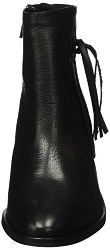 Pieces Psdiva Leather Boot Black, Bottes Classiques Femme Noir (Black)