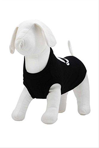 Karl Lagerfeld Haustiere Hund T-Shirt Face Motiv Gesicht KL, Farbe: Schwarz, Größe: 40