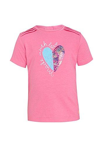 s.Oliver Baby - Mädchen Kurzarm Shirt 65.504.32.2325, mit Print, Gr. 80, Rosa (Pink 4418)