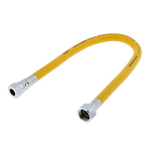 perfk 50 cm / 30 cm Tuyau d'Appareil au Gaz Connecteur Propane Utilisé pour Connecter Gaz aux Appareils de Chauffage - Bouchon à vis 50cm