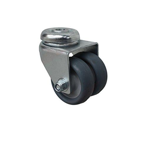 50 mm Apparaterolle Möbelrolle Transportrolle als Lenkrolle Rückenlochbefestigung