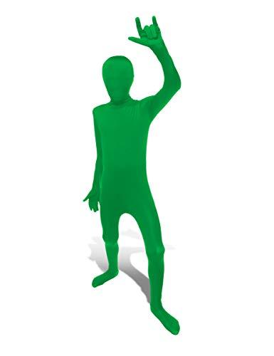 KULTFAKTOR GmbH Kinder Morphsuit Ganzkörperanzug grün 8 bis 10 ()
