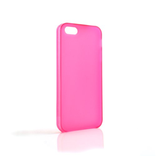 System-s Housse en silicone case cover Skin Coque Transparent Pink pour Apple iPhone 5