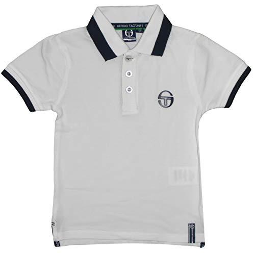 Sergio Tacchini Jungen Tennis-Poloshirt kurzärmlig Baumwolle Gr. 122/128, weiß