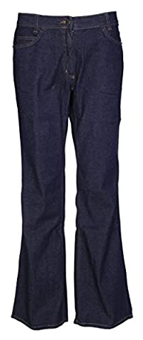 Womens Mid Rise Boot Cut Jeans Ladies Stretch Denim Indigo