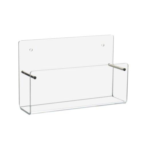 Din A6 Wandprospekthalter / Postkartenhalter im Querformat aus Acrylglas