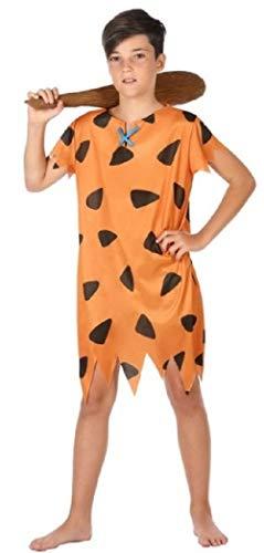 Kostüm Höhlenmensch Junge - Kinder Jungen 1960s Cartoon Höhlenmensch Büchertag Woche Halloween Kostüm Kleid Outfit 3-12 Jahre - Orange, 5-6 Years
