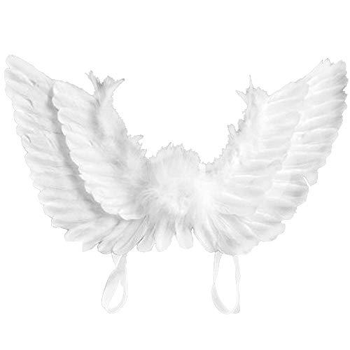 Stronghigheu, Feen-Flügel-Kostüm, Feen-Flügel, für Erwachsene, Weiß
