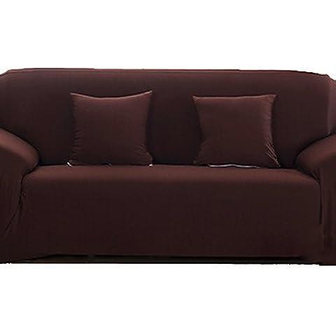 zzlovehome-home impermeable Funda para sofá en microfibra sólido Mini cubo acolchado sillón reclinable, Home muebles funda protectora para sillas, café, sofa