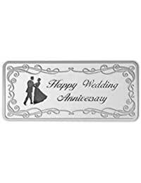 Maa Silver Happy Anniversary 20gm Fine Silver Bar with 999 Purity