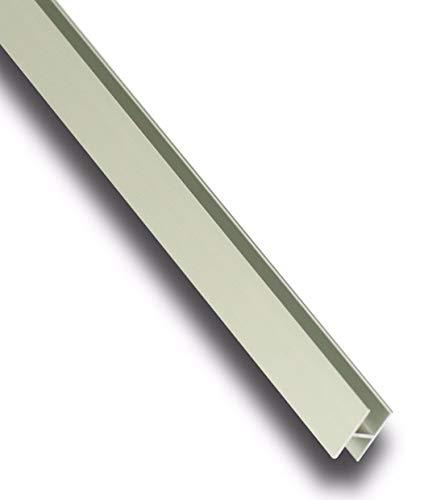 Aluminium H-Profil Eloxiert Alu Schiene Aluprofil 22x13x1,5 mm 2000mm