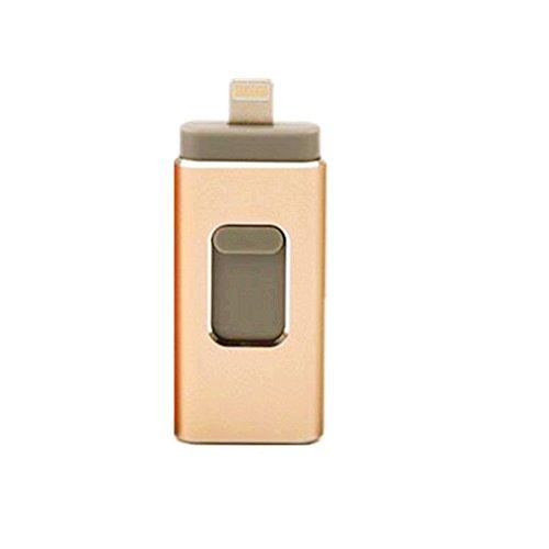 FeliSun 64GB USB i-Flash Drive Memory Stick Memory Stick Speicherstick Card Reader Adapter Kartenleseradapter with DREI Interfaces (Ipod Memory Reader Card Für)