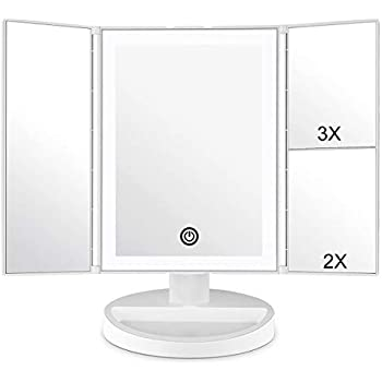 Globrite 21 Led Trifold Touch Screen Lighted Makeup Mirror